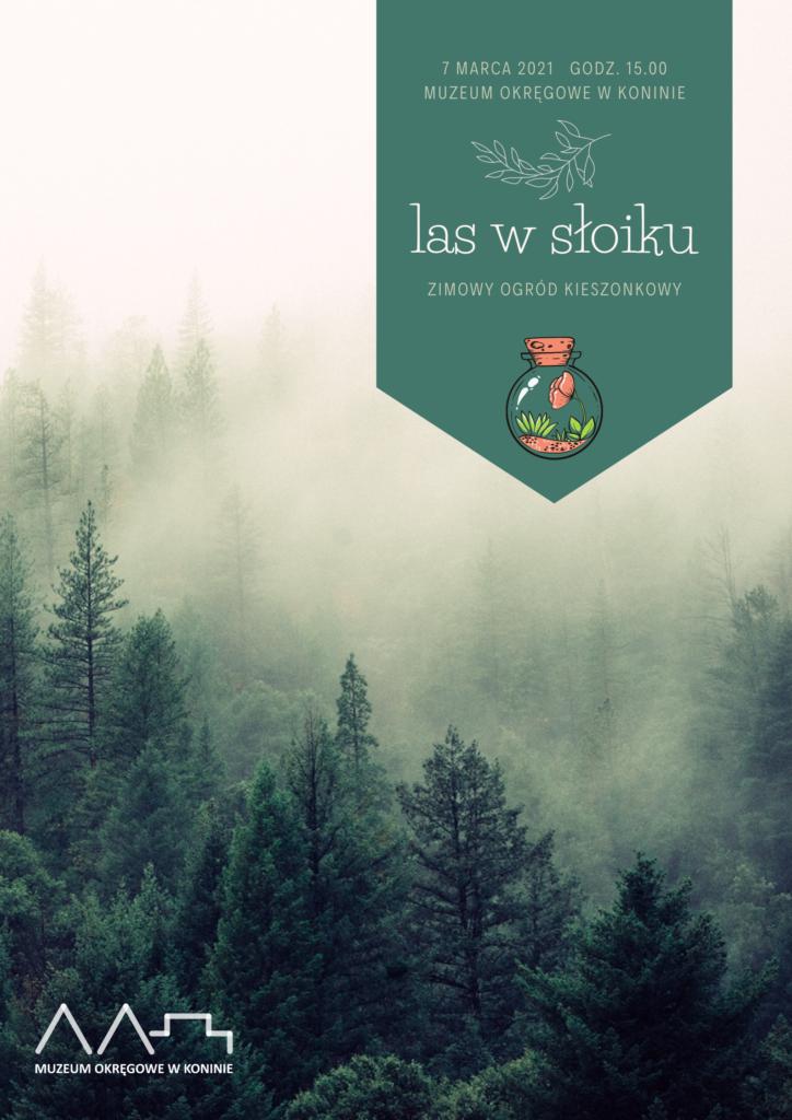 zdjęcie przedstawiające grafikę warsztatów las w słoiku przedstawiające przyrodę w lesie